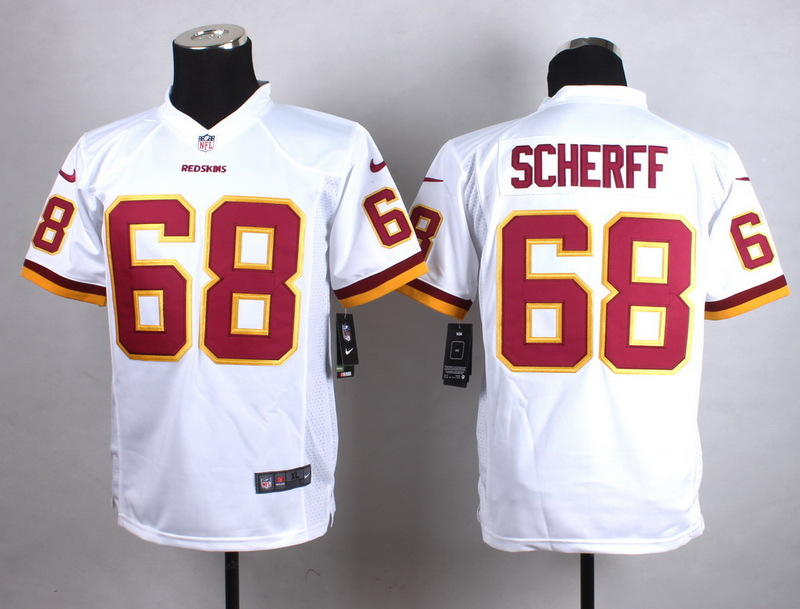 Youth Washington Redskins 68 Scherff White New 2015 Nike Jersey