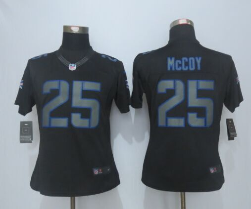 Womens Buffalo Bills 25 McCoy Impact New Nike Limited Black Jerseys