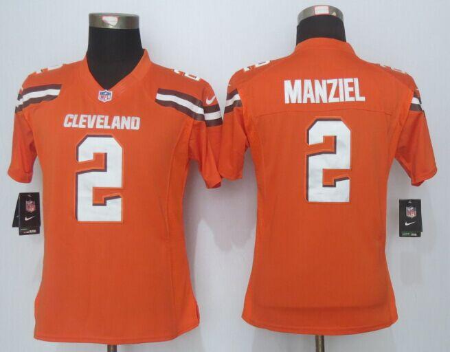 Womens Cleveland Browns 2 Manziel Orange Limited New 2015 Nike Jersey