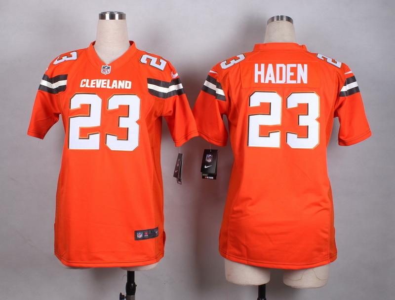 Womens Cleveland Browns 23 Haden Orange New 2015 Nike Jersey