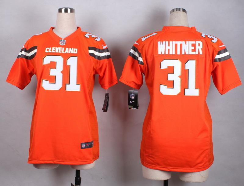 Womens Cleveland Browns 31 Whitner Orange New 2015 Nike Jersey