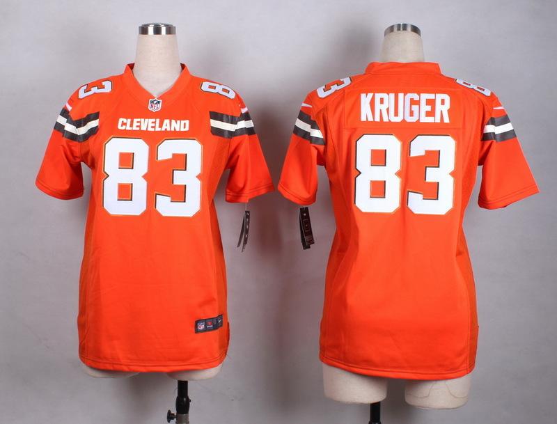 Womens Cleveland Browns 83 Kruger Orange New 2015 Nike Jersey