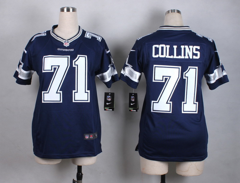 Womens Dallas Cowboys 71 Collins Blue New 2015 Nike Jersey