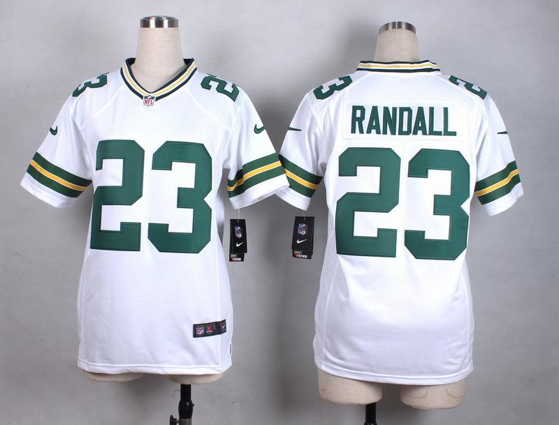 Womens Green Bay Packers 23 Randall White New 2015 Nike Jersey