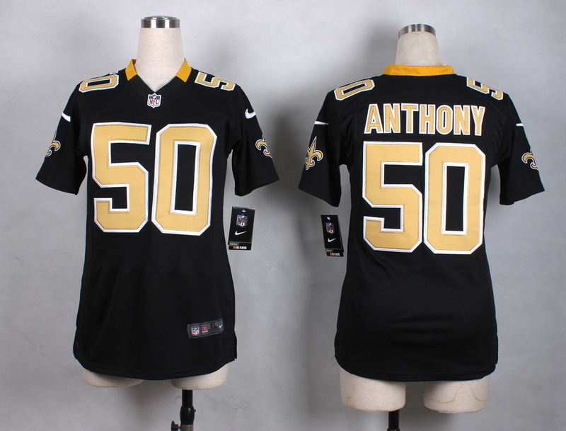 Womens New Orleans Saints 50 Anthony Black New 2015 Nike Jersey