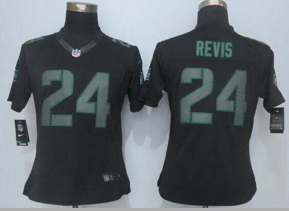 Womens New York Jets 24 Revis Impact Limited Black New 2015 Nike Jersey