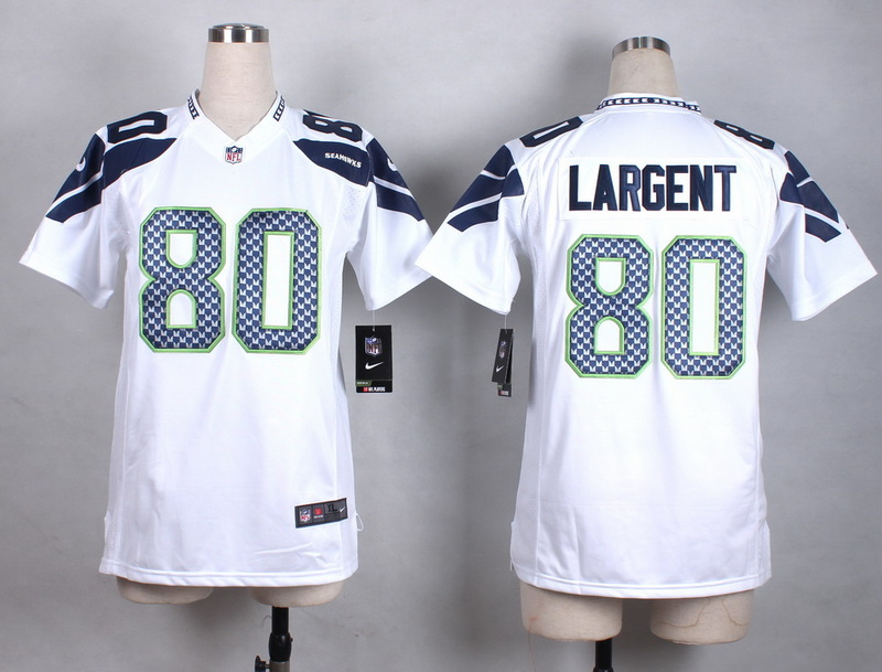 Womens Seattle Seahawks 80 Largent White New 2015 Nike Jersey
