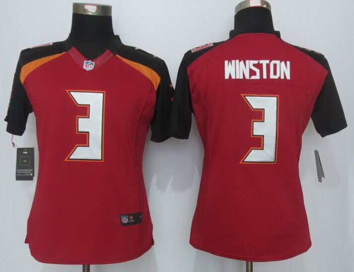 Womens Tampa Bay Buccaneers 3 Winston Red 2015 New Nike Limited Jerseys