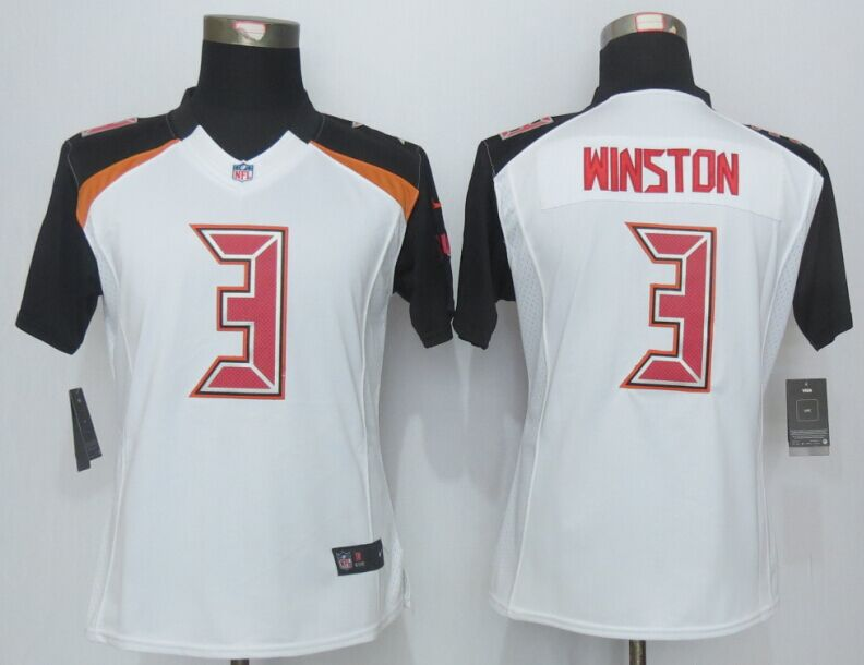 Womens Tampa Bay Buccaneers 3 Winston White 2015 New Nike Limited Jerseys