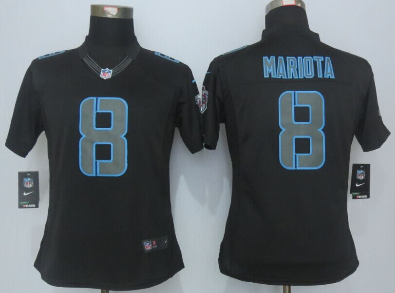 Womens Tennessee Titans 8 Mariota Impact Limited Black New 2015 Nike Jersey