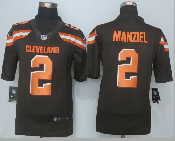 Cleveland Browns 2 Manziel Brown 2015 Nike Limited Jerseys