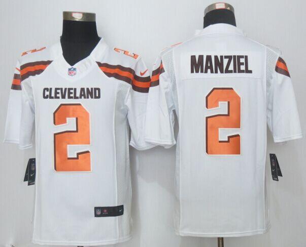 Cleveland Browns 2 Manziel White 2015 Nike Limited Jerseys