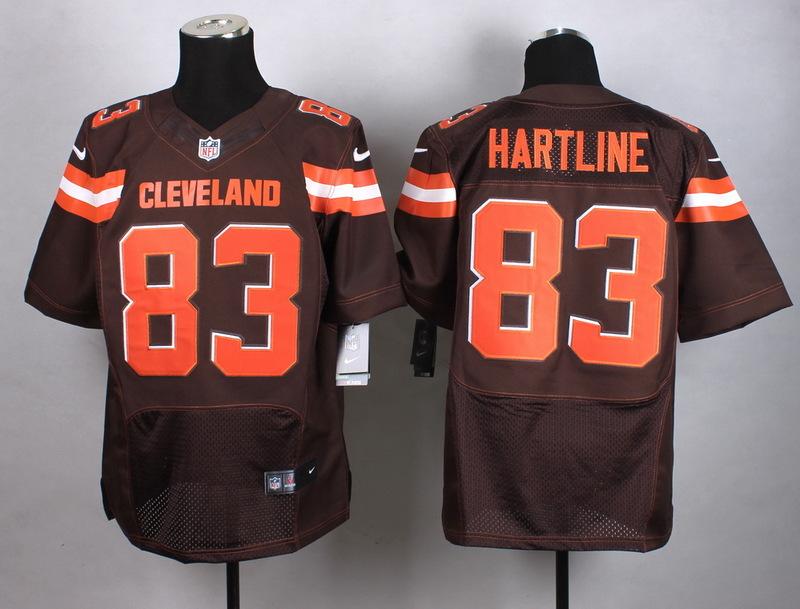 Cleveland Browns 83 Hartline Brown New 2015 Nike Elite Jersey