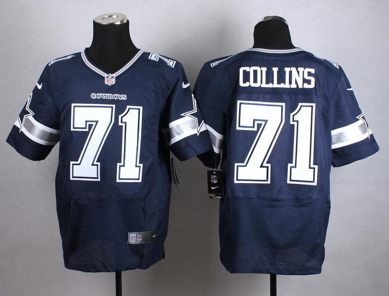 Dallas Cowboys 71 Collins Blue New 2015 Nike Elite Jersey