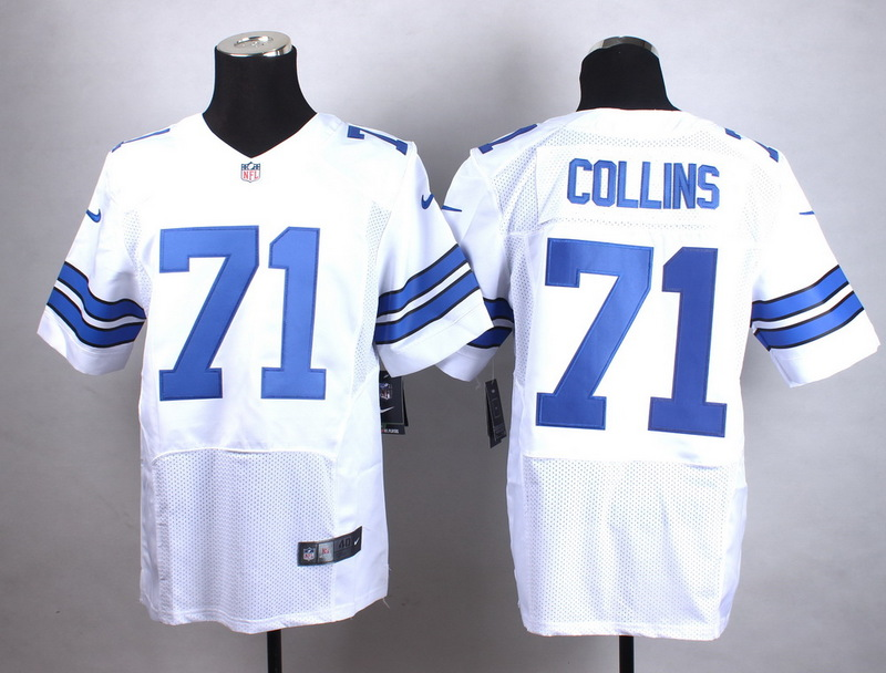Dallas Cowboys 71 Collins White New 2015 Nike Elite Jersey