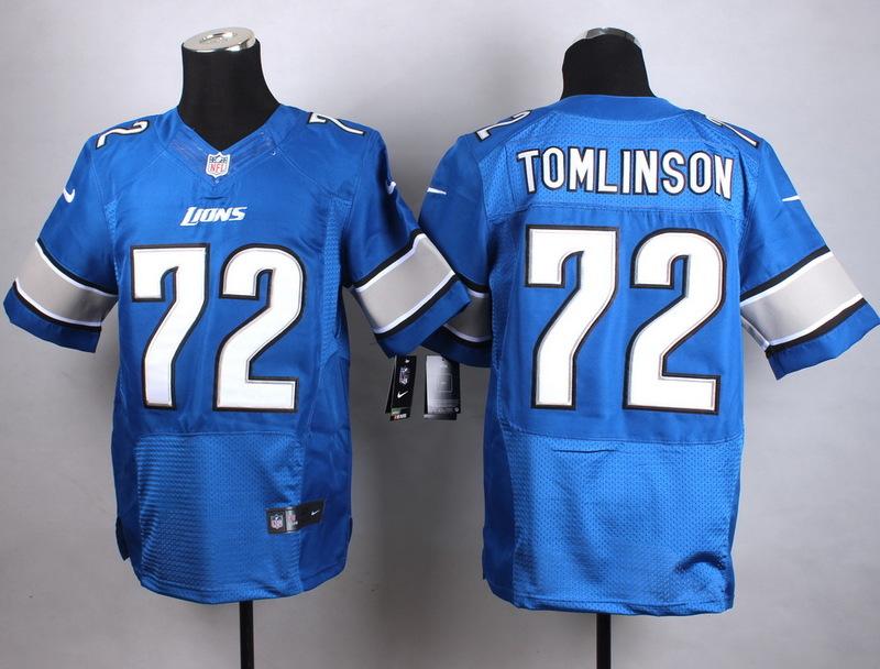 Detroit Lions 72 Tomlinson Blue New 2015 Nike Elite Jersey