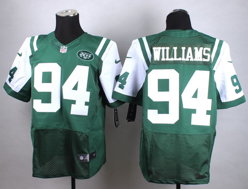 New York Jets 94 Williams Green New 2015 Nike Elite Jersey