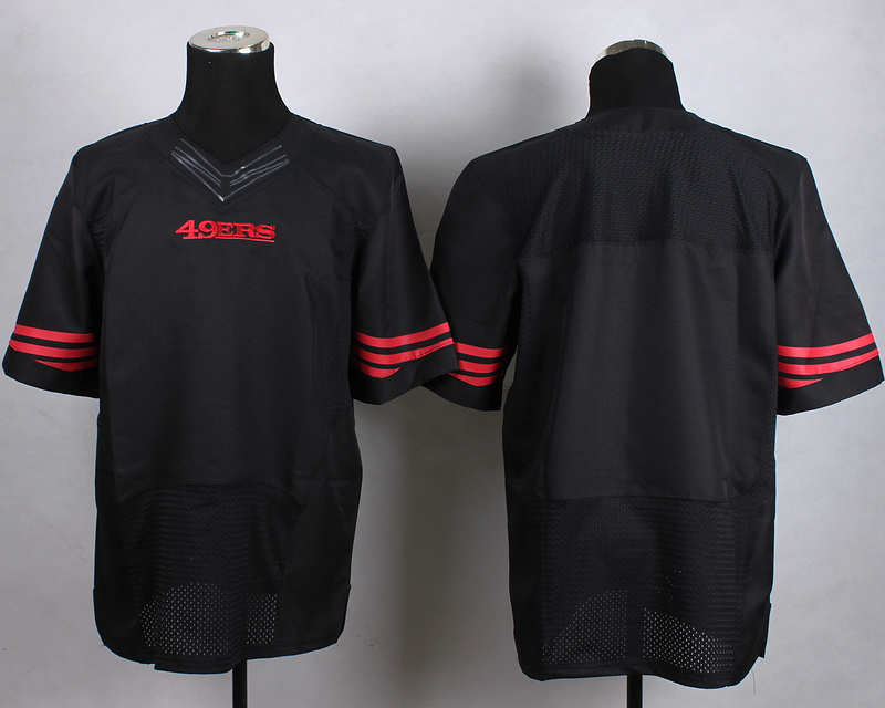 San Francisco 49ers Blank Black New 2015 Nike Elite Jersey