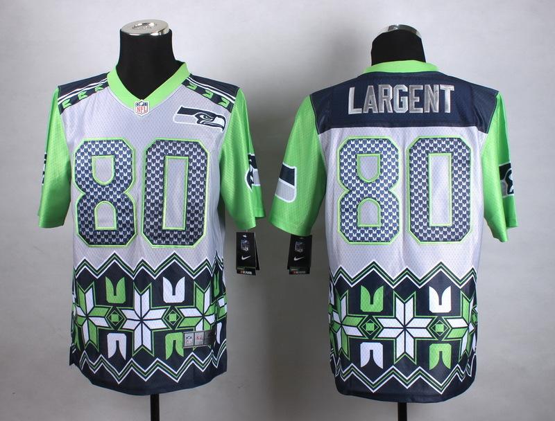 Seattle Seahawks 80 Largent Grey 2015 New Style Noble Fashion Elite Jerseys