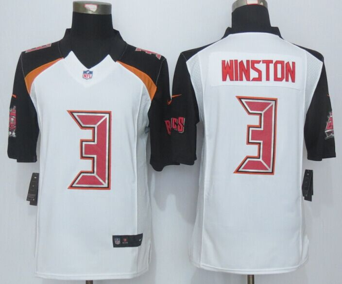 Tampa Bay Buccaneers 3 Winston White 2014 New Nike Limited Jerseys