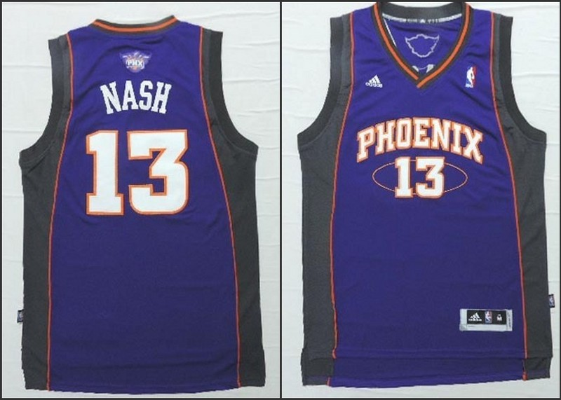 NBA Phoenix Suns 13 Steve Nash purple 2015 Jerseys