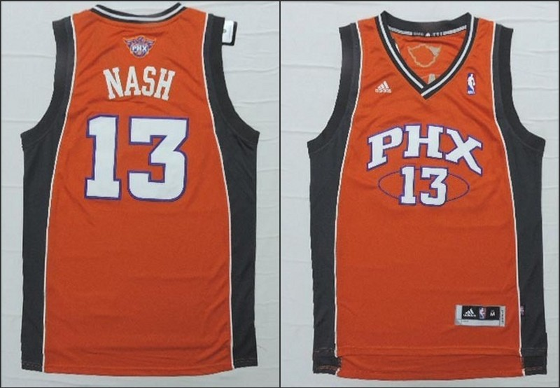 NBA Phoenix Suns 13 Steve Nash orange 2015 Jerseys