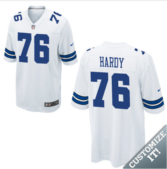 Dallas Cowboys 76# hardy White Nike Elite nfl jerseys