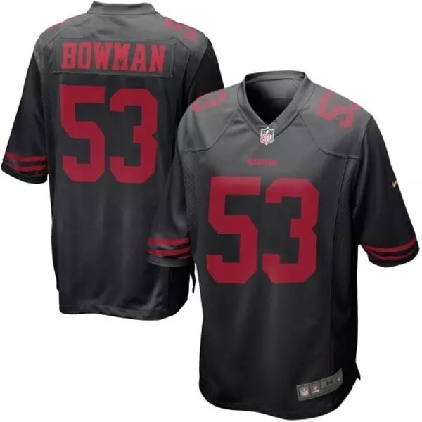 San Francisco 49ers 53 Bowman Black New 2015 Nike Limited Jersey