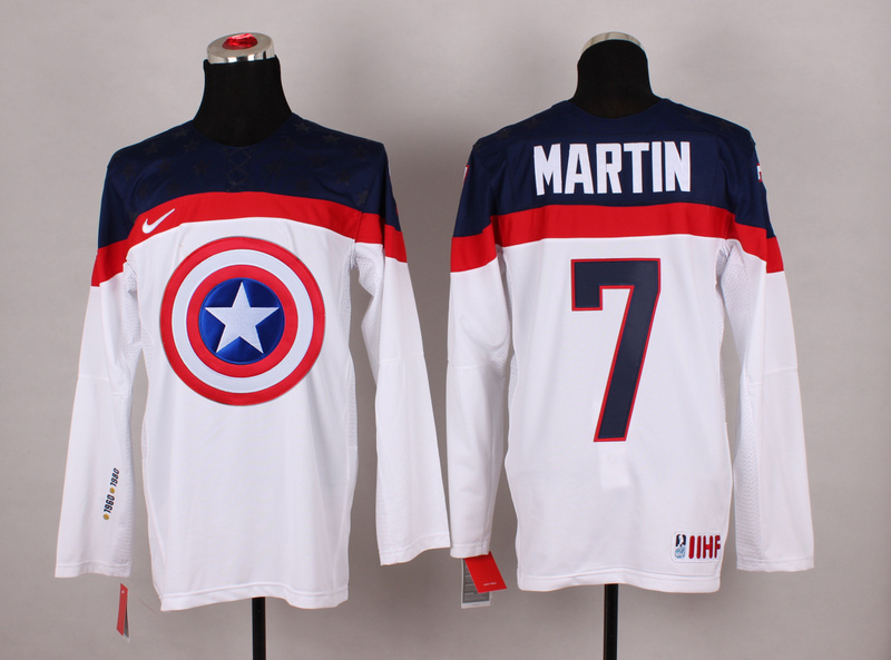 NHL 7 martin white Captain America Fashion Jerseys