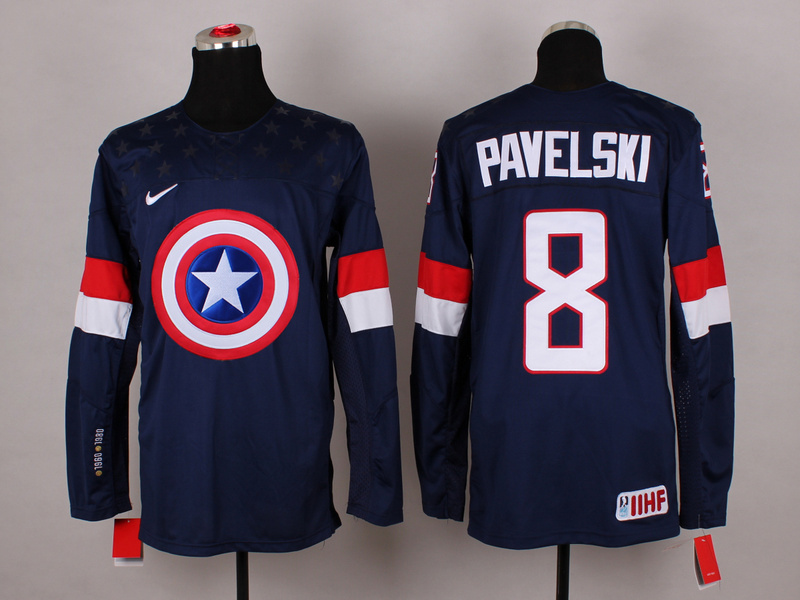 NHL 8 pavelski blue Captain America Fashion Jerseys