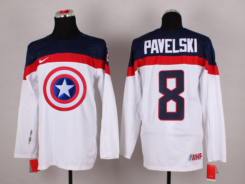 NHL 8 pavelski white Captain America Fashion Jerseys