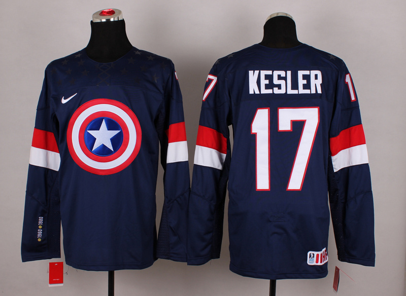 NHL 17 kesler blue Captain America Fashion Jerseys