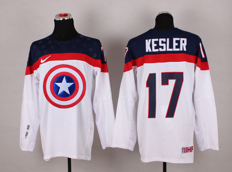NHL 17 kesler white Captain America Fashion Jerseys