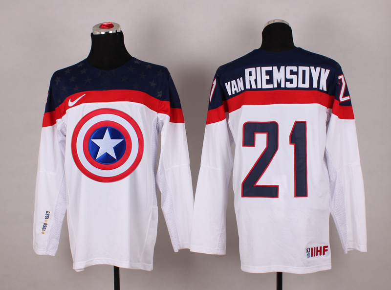NHL 21 van Riemsoyk white Captain America Fashion Jerseys