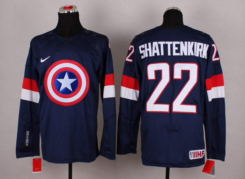 NHL 22 Shattenkirk blue Captain America Fashion Jerseys