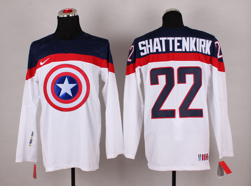 NHL 22 shattenkirk white Captain America Fashion Jerseys