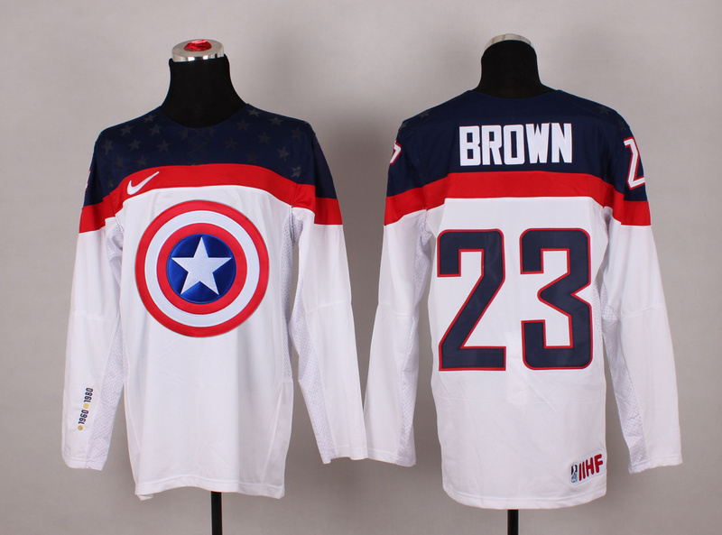 NHL 23 brown white Captain America Fashion Jerseys