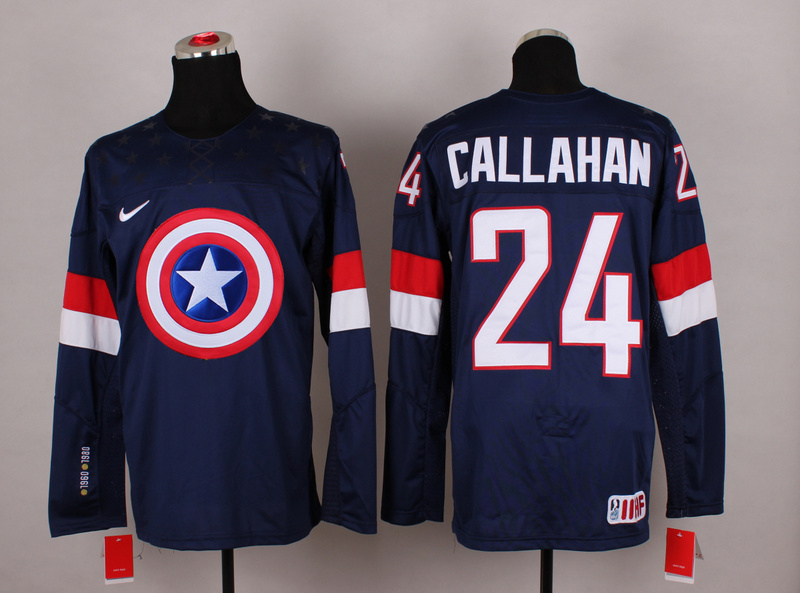 NHL 24 callahan blue Captain America Fashion Jerseys