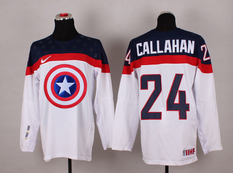 NHL 24 callahan white Captain America Fashion Jerseys