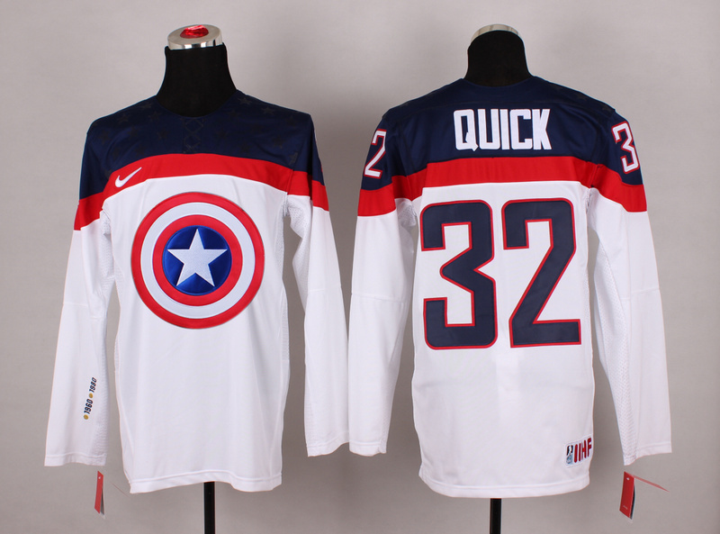 NHL 32 quick white Captain America Fashion Jerseys