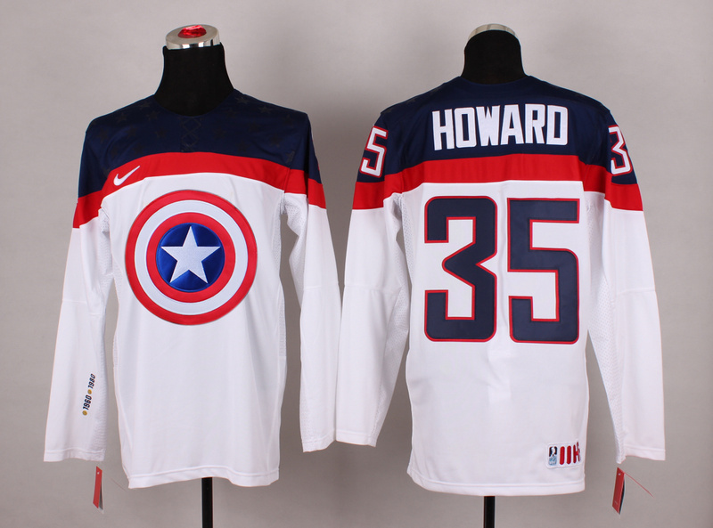 NHL 35 howard white Captain America Fashion Jerseys
