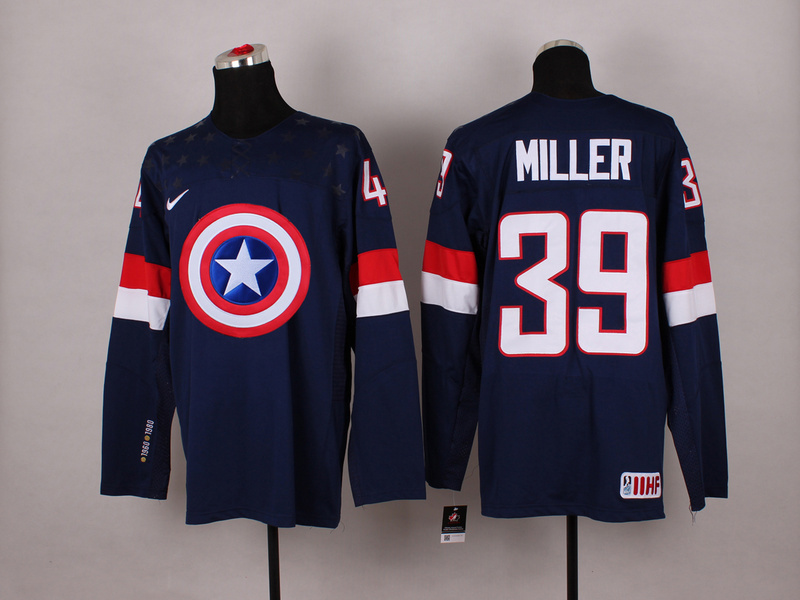 NHL 39 miller blue Captain America Fashion Jerseys