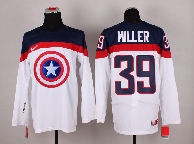 NHL 39 miller white Captain America Fashion Jerseys