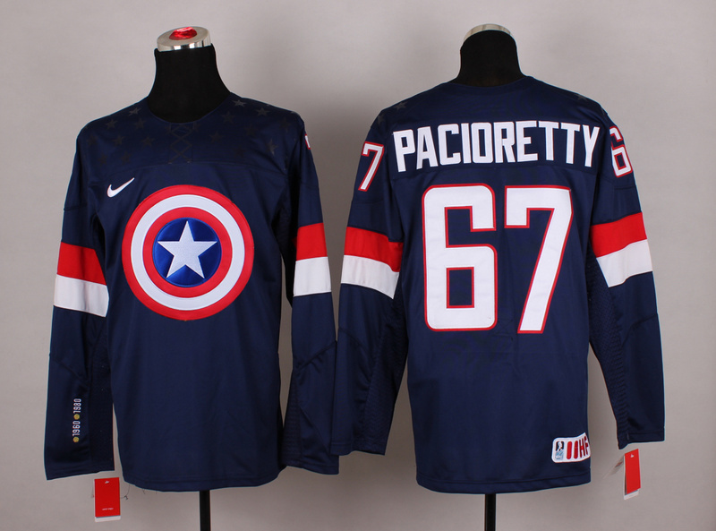 NHL 67 pacioretty blue Captain America Fashion Jerseys