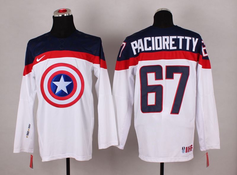 NHL 67 pacioretty white Captain America Fashion Jerseys
