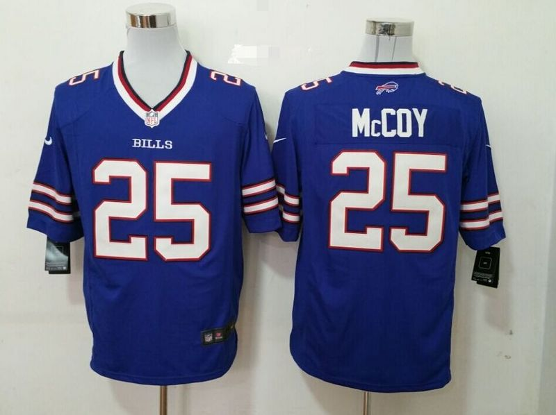 Buffalo Bills 25 mccoy blue 2015 New Game Jersey