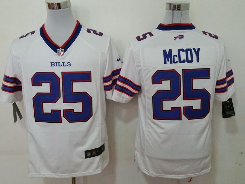 Buffalo Bills 25 mccoy white 2015 New Game Jersey