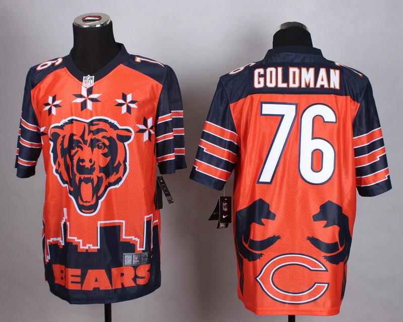 Chicago Bears 76 Goldman Orange 2015 New Style Noble Fashion Elite Jerseys