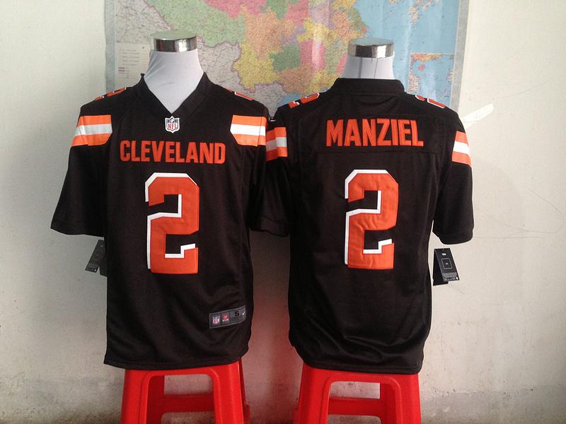 Cleveland Browns 2 manziel Brown 2015 New Game Jersey