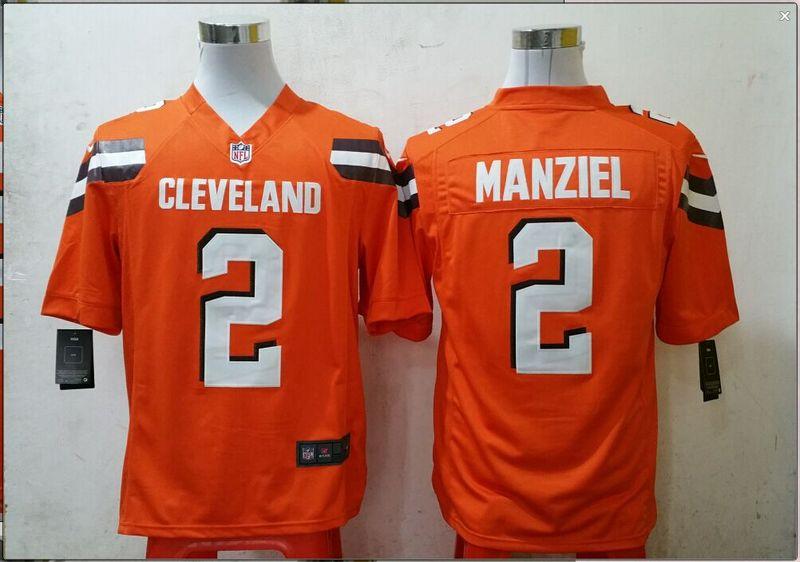 Cleveland Browns 2 manziel Orange 2015 New Game Jersey